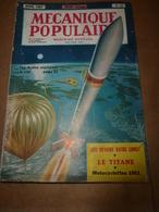 1953 MÉCANIQUE POPULAIRE: Chasse Aux Rayons Cosmiques;Les Motos Américaines;Fabriquer Une Voile;Recherche De Perles;etc - Sciences & Technique