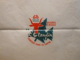 TGE72009 - étiquette D'emballage De Fromage + Bandeau Double Crème Claudin à YVRÉ-L'ÉVÊQUE - Sarthe 72Q - Cheese