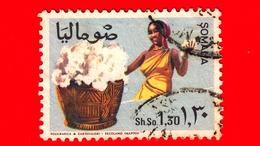 SOMALIA - Usato - 1968 - Agricoltura - Piante (Flora) - Cotone - 1.30 - Somalia (1960-...)