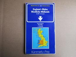 Kümmerly + Frey - Angleterre - Pays De Galles / éditions De 1984 - Cartes Routières