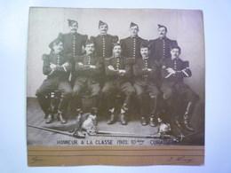 """PHOTO De MILITAIRES Du  10ème  CUIRASSIERS  """" Honneur à La Classe  1902 """"   XXXX - Army & War"""