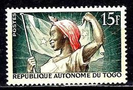 TOGO 260* 15f Vert-bleu, Sépia Et Rouge Drapeau National - Togo (1960-...)