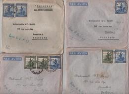 PR6171/ 4 Lettres Avion Ruanda-Urundi Astrida 1947 V.BXL Avec Contenu Pour 2 Lettres - 1948-61: Lettres