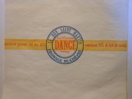 TGE86007 - étiquette D'emballage De Fromage Mi Chèvre - LE BON SAINT-MARTIN - DANGÉ Vienne - Cheese