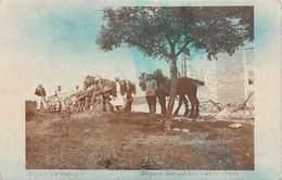 21- LANTENAY - Ferme Du Bel- Air- Départ Des Soldats Cultivateurs Attelage Chevaux De Trait. Carte Photo Colorée - Frankreich