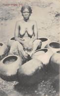 Sierra Leone - Ethnic / 01 - Woman Making Pots - Sierra Leone