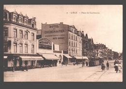 Liège - Place De Guillemins - Hôtel Du Chemin De Fer - Hôtel Du Midi - Tram / Tramway - Animation - Liege