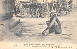 Sierra Leone - Ethnic / 13 - Timanee Woman Making A Mat - Sierra Leone