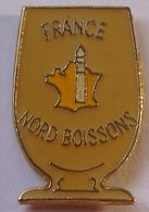 FF  440....CARTE DE FRANCE......FRANCE  NORD   BOISSON - Pin's