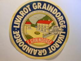 TGE14026 - Grande étiquette De Fromage LIVAROT GRAINDORGE à Livarot Calvados 14AM - Fromage