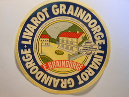 TGE14026 - Grande étiquette De Fromage LIVAROT GRAINDORGE à Livarot Calvados 14AM - Cheese
