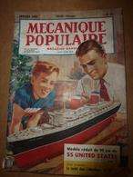 1953 MÉCANIQUE POPULAIRE:Une Ferme Organisée Au TOP Du TOP; Comment Réutiliser Les Vieilles Boites De Conserves;etc - Sciences & Technique