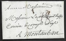1788 - LAC - ANGOULESME (ANGOULEME) 36mm X 3mm (Charente) Pour MONTAUBAN. Ind. 13 - 1701-1800: Précurseurs XVIII