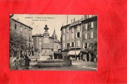 Carte Postale - AUBENAS - D07 - Statue De Jean Mathon Et Carrefour De Vernon - Aubenas
