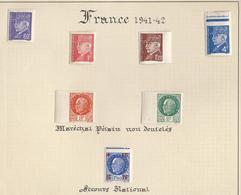 Timbres Pétain Non Dentelés - N°509, 514, 515, 521A ; 518, 521, 552 - Tous Signés - France