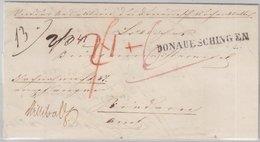 Baden - Donaueschingen Einzeiler Nachnahmebrief N. (?) 1849 - Mit Inhalt - Baden