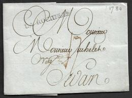1784 - LAC - LA ROCHELLE 42mm X 4mm (Charente Maritime) . Ind 13.TB - 1701-1800: Précurseurs XVIII