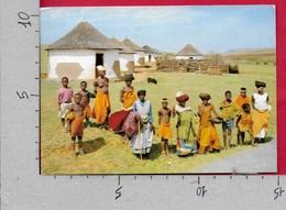 CARTOLINA VG SUD AFRICA - TRANSKEI - Xhosa Villagers - 10 X 15 - ANN. 1990 BOKSBURG - Sud Africa