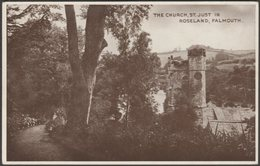 The Church, St Just-in-Roseland, Cornwall, C.1930s - ETW Dennis Postcard - Other