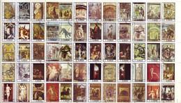 Ajman 1972 - Blocco Di 60 Quadri E Opere D'arte Famose. Annullati - Timbres