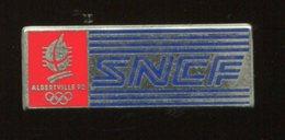 Pin's - Train SNCF Logo ALBERVILLE 92 - Au Dos Decat Paris - TGV