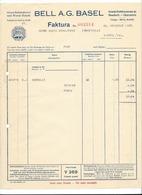 F95 - Facture 1927 Bell Basel Gross Schlächterei Und Wurst Fabrik Avec Cloche Pour Schulthess Sierre - Suisse