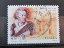 *ITALIA* USATI 2003 - BICENTENARIO MORTE ALFIERI - SASSONE 2712 - LUSSO/FIOR DI STAMPA - 6. 1946-.. Repubblica
