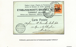 212/28A - CARTES A JOUER Belgique - Carte Publicitaire TP Germania - TURNHOUT Provinz Antwerpen 1918 + Censure - Games