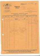 F96 - Facture 1927 W. Berg Strickwaren Baumwollgarnie Wollgarne Zürich Pour Schulthess Sierre - Suisse