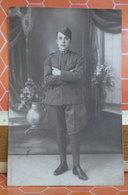 Foto AITA Brescia Soldato  Cartolina Fotografica Formato Piccolo - Uniforms