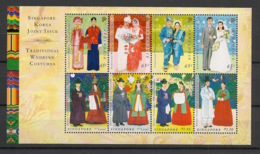 Singapore - 2007 - Bloc Feuillet BF N°Yv. 124 - Costumes - Neuf Luxe ** / MNH / Postfrisch - Singapour (1959-...)