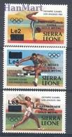 Sierra Leone 1985 Mi 827-829 MNH ( ZS5 SRR827-829 ) - Summer 1984: Los Angeles