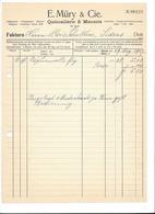 F97 - Facture 1927 E. Müry & Cie Quincaillerie & Mercerie Basel Pour Schulthess Sierre - Suisse