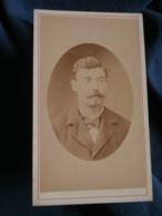 Photo CDV  Depierre à Lisieux  Portrait Homme Moustachu  CA 1875 - L416 - Photos