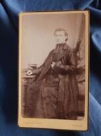 Photo CDV  Espagnet à Rouen  Religieux Assis  Prêtre, Curé  CA 1885 - L416 - Photos