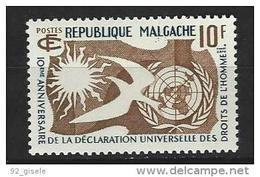 "Madagascar YT 335 "" Droits De L'homme "" 1958 Neuf** - Madagascar (1960-...)"