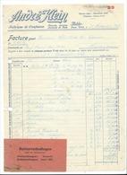 F100 - Facture Rechnung 1927 Bâle André Klein Fabrique De Confiserie Pour Schulthess Sierre - Suisse