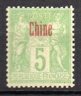 Col11   Chine N° 2 Neuf X MH  : 5,00 Euros - China (1894-1922)