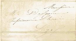 7/7/1850 Lettre Avec Texte Envoyée Par Messager De CHAUDFONTAINE Vers LIEGE - Signé WILMOTTE - Belgique