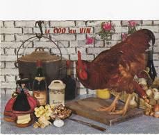 2 Cartes Postales Recette De Cuisine LE COQ AU VIN - Recettes (cuisine)