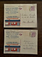 Oude Briefkaarten  2 Stuks   Van DUINEN EN HEIDE  AVERBODE - België