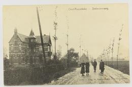 Postkaart : Oostrozebeke - Oost-Roosebeke Statiesteenweg 1908 - Oostrozebeke