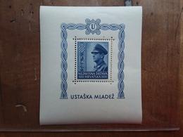 CROAZIA 1943 - Pro Gioventù Ustascia - BF 6 Nuovo ** + Spese Postali - Croazia
