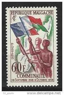 "Madagascar YT 340 "" Communauté Française "" 1959 Neuf** - Madagascar (1960-...)"