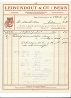 F102 - Facture Rechnung 1927 Bern Leibundgut & Cie  Pour Schulthess Sierre - Suisse
