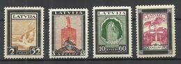Latvia 1933 Michel 215 - 218 A * - Lettonie