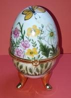 Oeuf En Porcelaine, De Collection, Boite à Bijoux Style Fabergé - Eggs