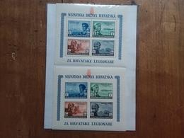 CROAZIA 1943 - Pro Legionari Croati BF 4/4A Nuovi ** + Spese Postali - Croazia