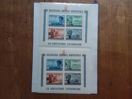 CROAZIA 1943 - Pro Legionari Croati BF 4/4A Nuovi ** + Spese Postali - Croatie