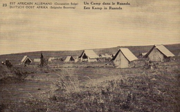 RUANDA-URUNDI 1918 : PWS/E.P./P.St. - ILLUSTR.** Nr 23 – 5 C. : TENTEN,TENTES,TENTS,KAMP,CAMP,BUILDING, - Stamped Stationery